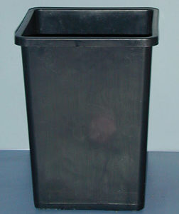"Rose Bucket Black, 10""x7.67""x 7.67"""