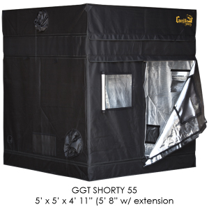 "5'x5' Gorilla Grow Tent SHORTY w/ 9"" Extension Kit"