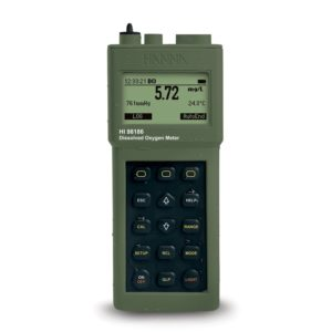 Portable Dissolved Oxygen Meter, Waterproof, 115v