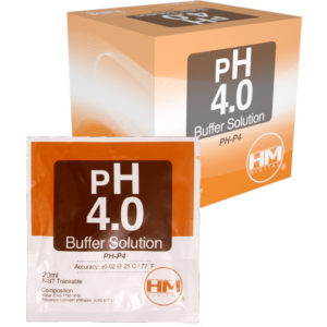 20 ml pack of pH 4 Buffer solu