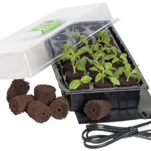 JS 24 Grow Plug Mini Germination Station w/Heat Mat (1