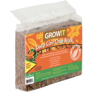 GROW!T Coco Coir Chip Brick, pack of 5