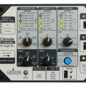 Grozone Control SCC1 Temperature, Humidity, & CO2 Controller - Simple One Series