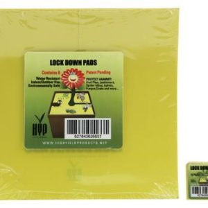 High Yield Products Lock Down Pad 1 in Square (15/Pack) (100/Cs)