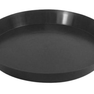 Black Premium Plastic Saucer 20 in (5/Cs)