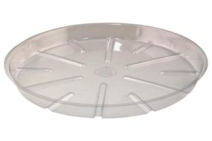Bond Clear Plastic Saucer 21 in (25/Bag)