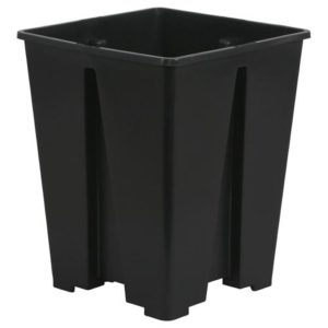 Gro Pro Premium Anti-Spiraling Black Plastic Square Pot 5 x 5 x 8 in (5250/Plt)