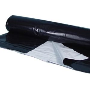 Berry Plastics Black/White Poly Sheeting Commercial Size - 5 mil 56 ft x 150 ft