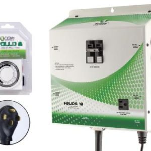 Titan Controls Helios 10 - Pre-Wired 8 Light 240 Volt Controller w/ Trigger Cord & Timer
