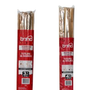 Bond Natural Bamboo Stakes 4 ft (25/Bag)